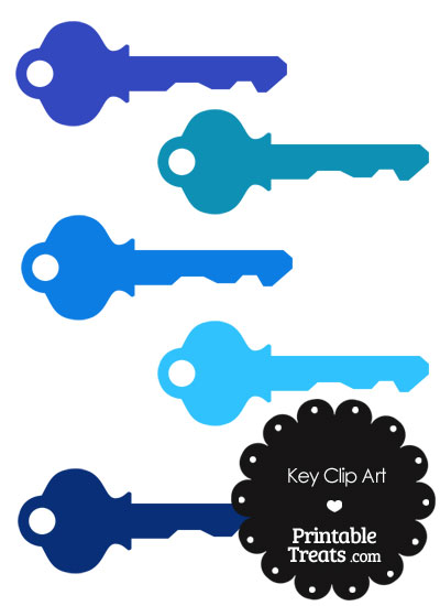 Key clipart blue PrintableTreats Treats Printable Key Blue