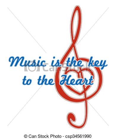 Key clipart clef Quote  is Music is
