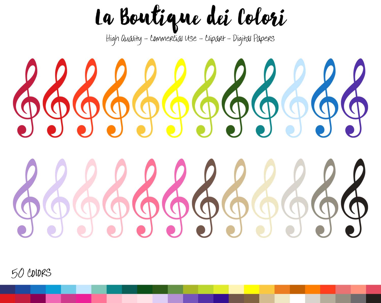 Key clipart clef Class Rainbow Treble Music 50
