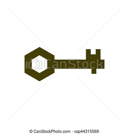 Key clipart clef Art on white  Ancient