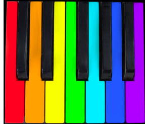 Colorful clipart piano #4