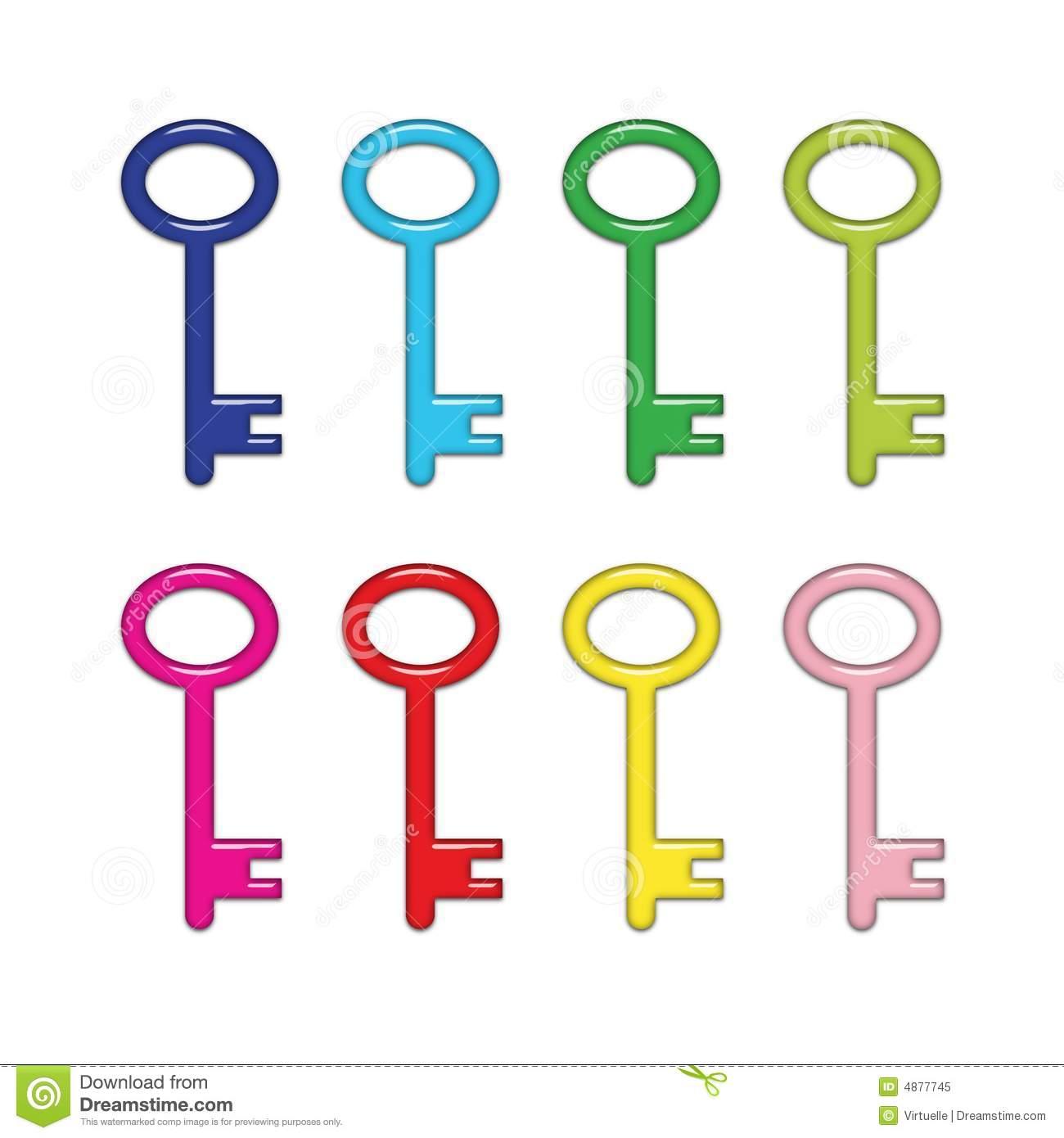 Key clipart colored key (28+) logo blue yellow ·
