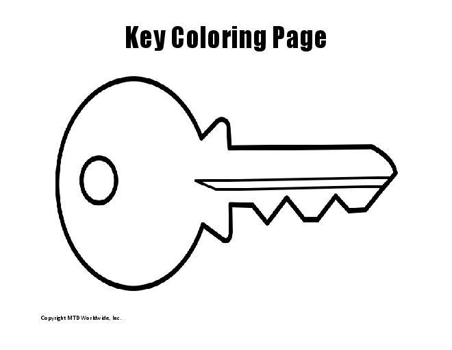 Key clipart colouring page Sponge Clip net 78 This
