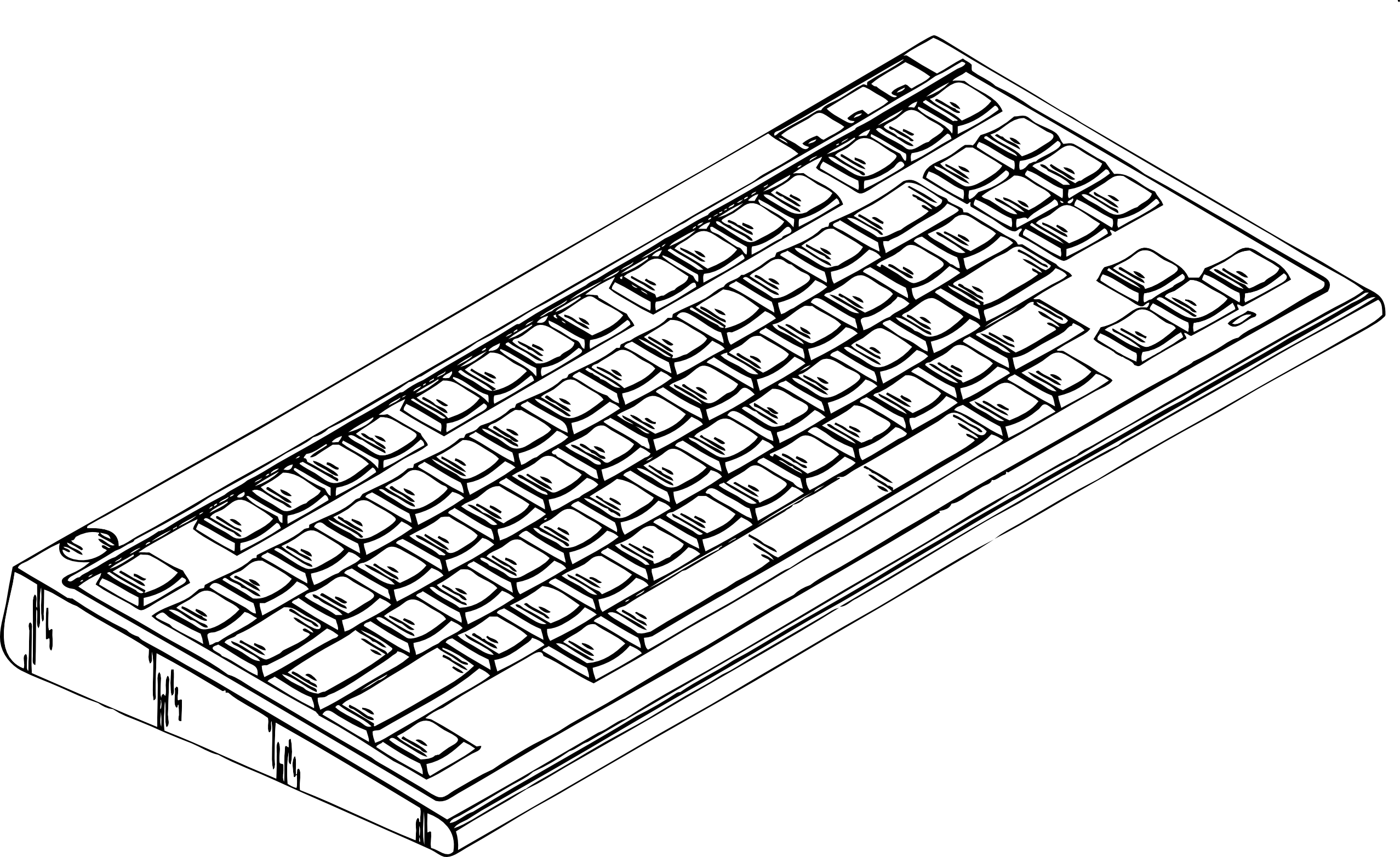 Mouse clipart computer keyboard #7
