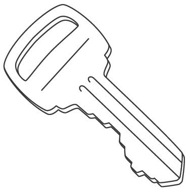 Key clipart colouring page Coloring Pinterest key on &