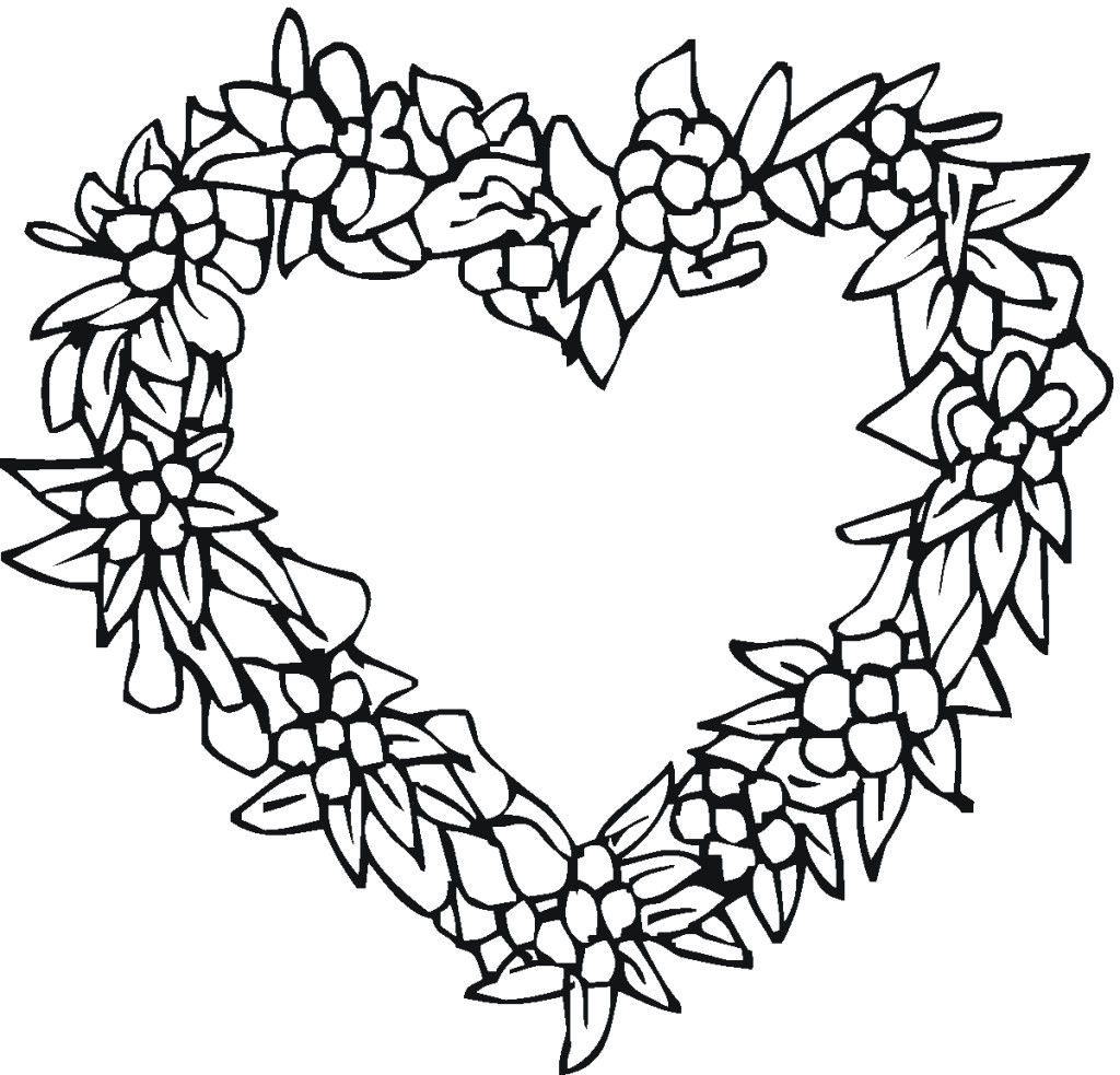 Key clipart colouring page Heart Page Free Coloring Valentines