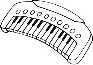 Piano clipart coloring page School printable coloring  piano