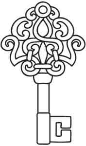 Key clipart colouring page Antique on Threads: ideas 25+