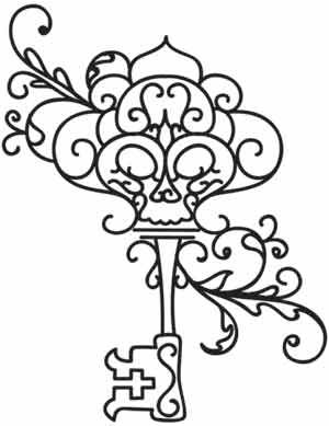 Key clipart colouring page Best Pinterest Pages and Colouring