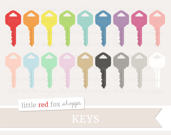 Lock clipart cute Door Vintage Graphic Moving Key