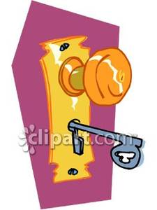 Lock clipart door key Free Fashioned Keyhole  with