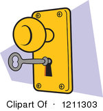 Lock clipart door lock  Lock Clipart Door