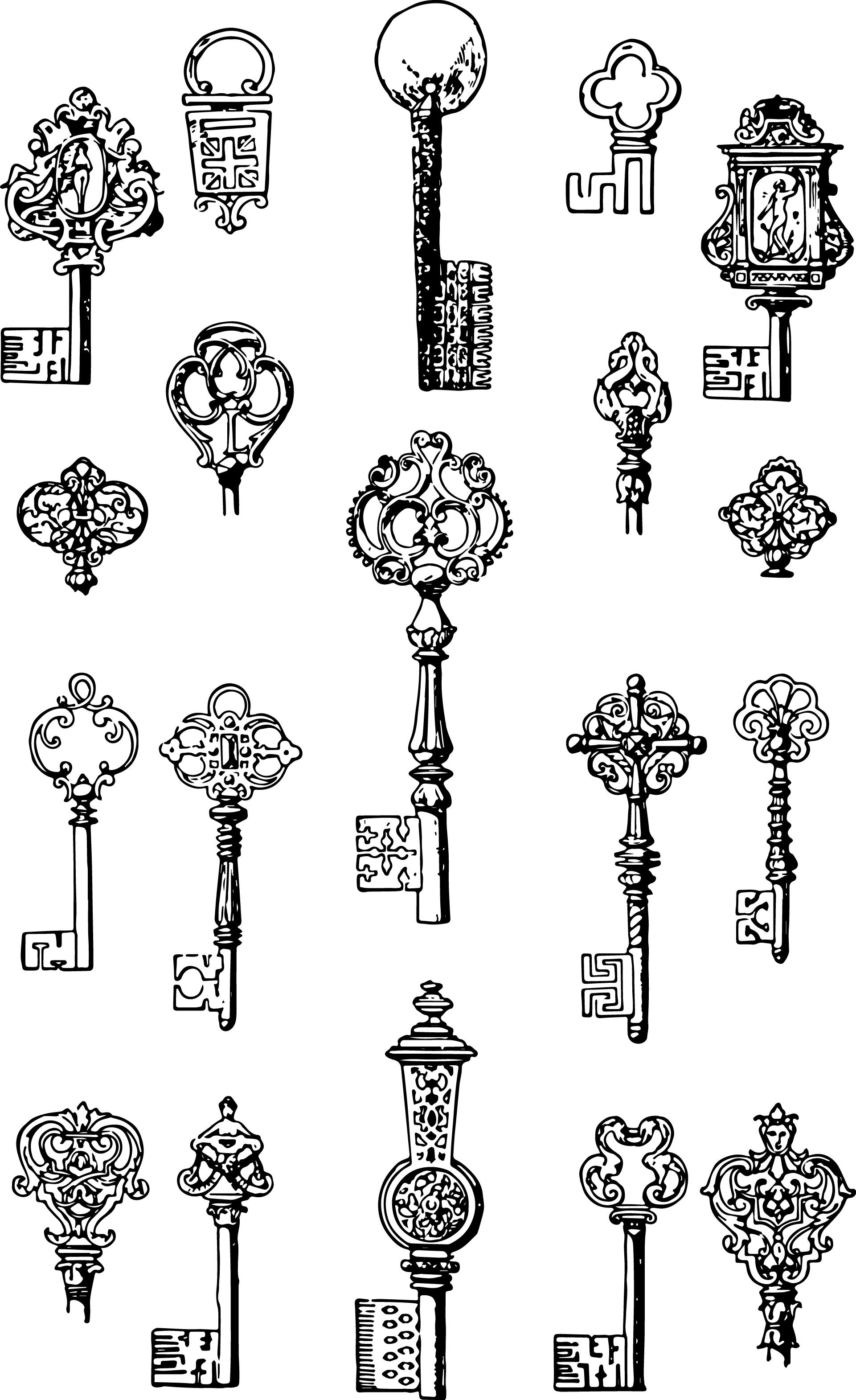 Key clipart fleur de lis – Art Vintage Keys Vintage
