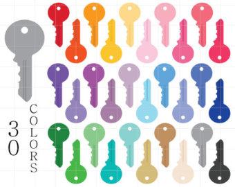 Key clipart house key Keys Key clip Etsy Art