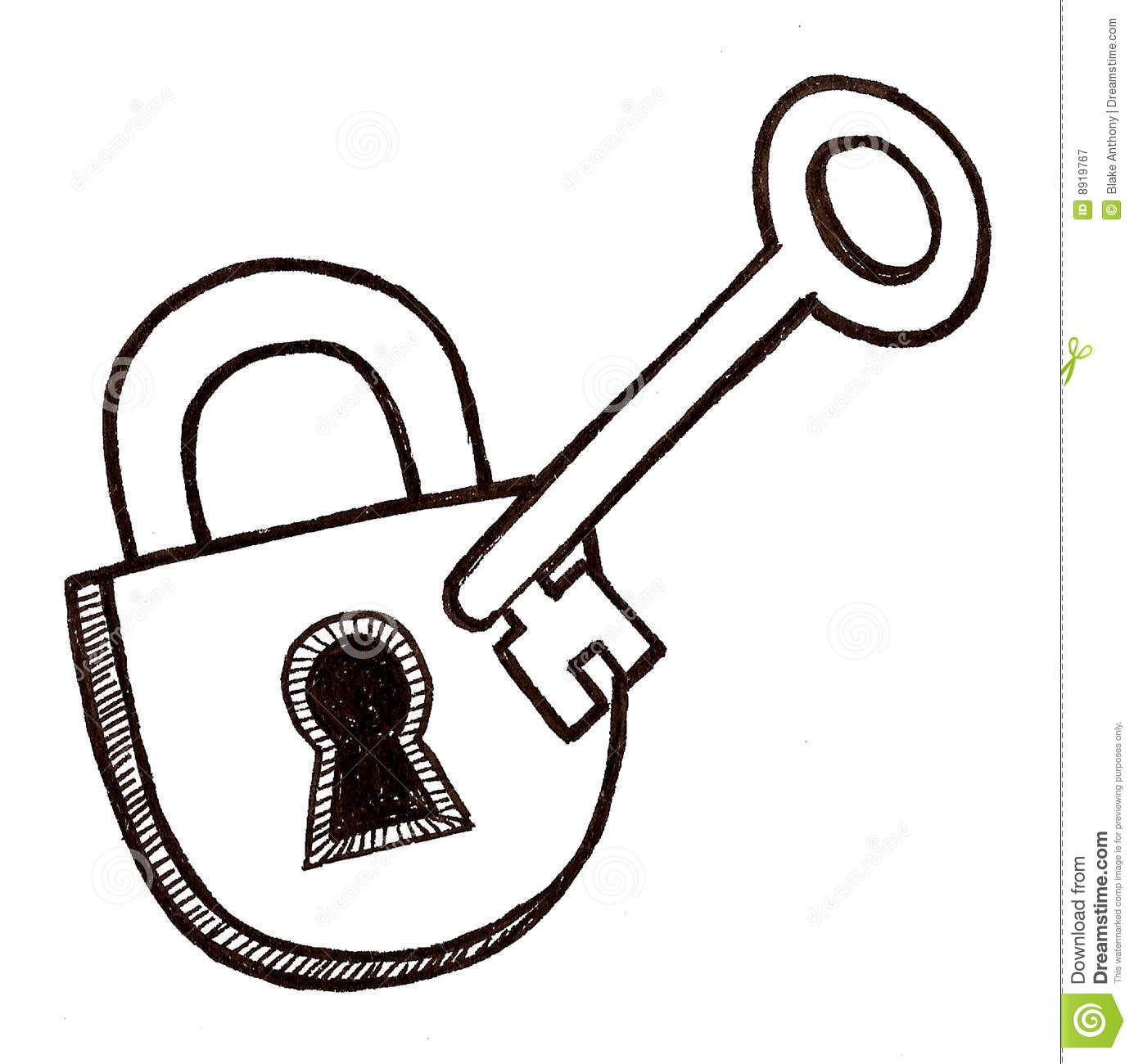 Key clipart key lock #11