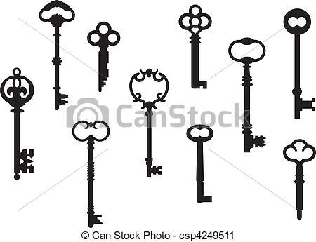 Key clipart logo vector Vector Skeleton key skeleton of