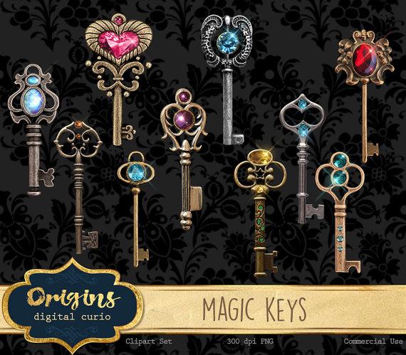Key clipart magic key From clip antique art bronze