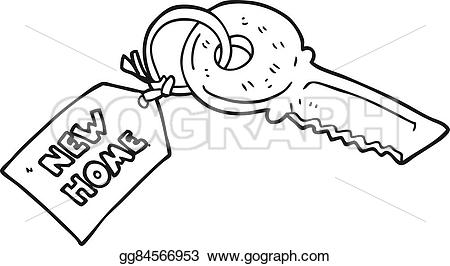 Key clipart new home New  Black tag new