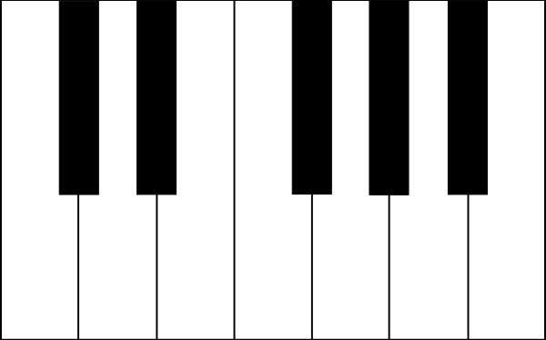 Key clipart piano Svg Piano Free vector Keys