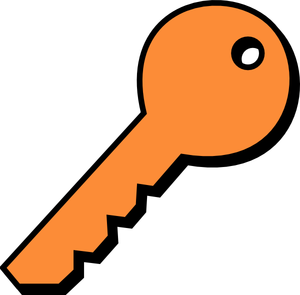 Key clipart plain Image Orangeplain at art this