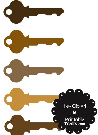Key clipart printable Brown Key Brown com Printable