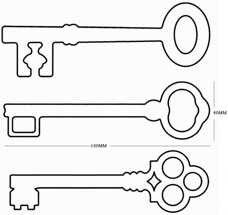 Key clipart printable Free Key Template See images