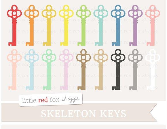 Key clipart red skeleton Market ~ Skeleton Clipart Key