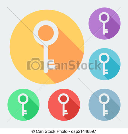 Key clipart six With of six  style