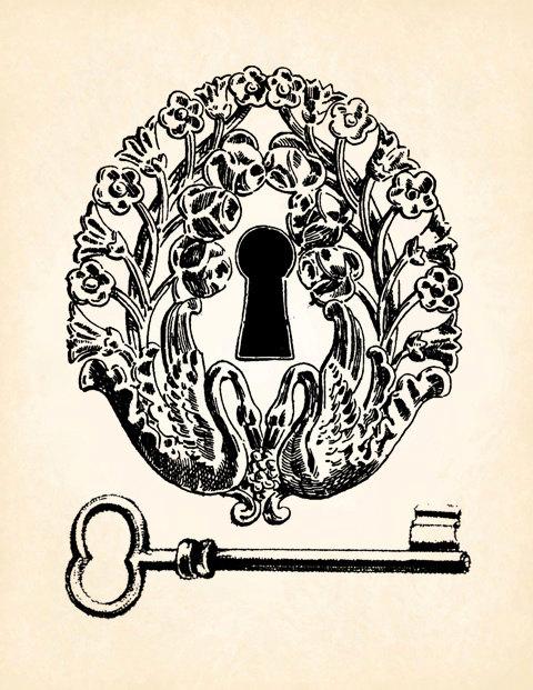 Lock clipart vintage Key Image Vintage Vintage png