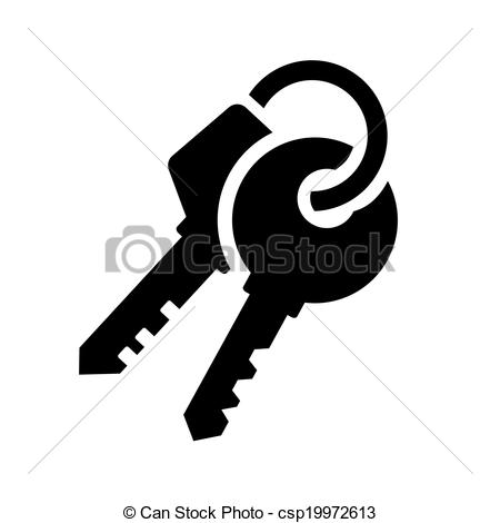 Key clipart two Two Keys csp19972613 of White