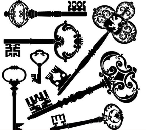 Victorian clipart key Archive Retro Art / Steampunk
