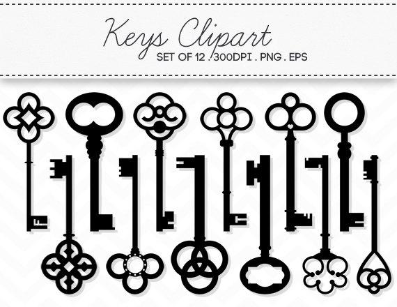 Alice In Wonderland clipart key Clip Etsy INSTANT Set /