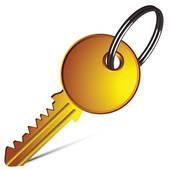 Key clipart yale Against white design; Art Key