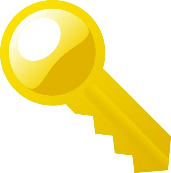 Key clipart yellow Clip vector art in drawing