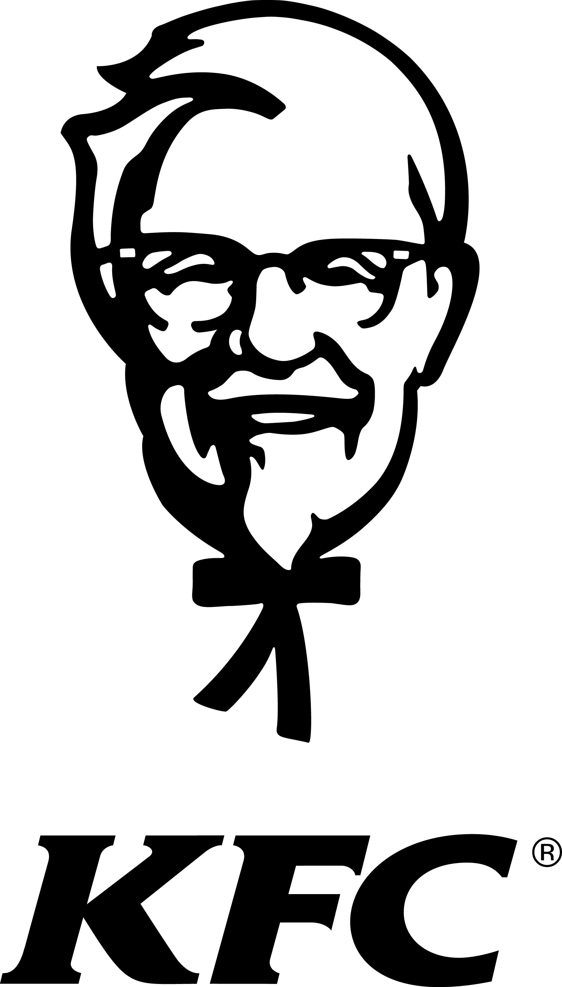 Kfc clipart black and white KFC Finger the Sanders KFC