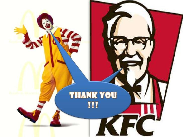 Kfc clipart mcdonalds Thank You kfc vs Mcdonald