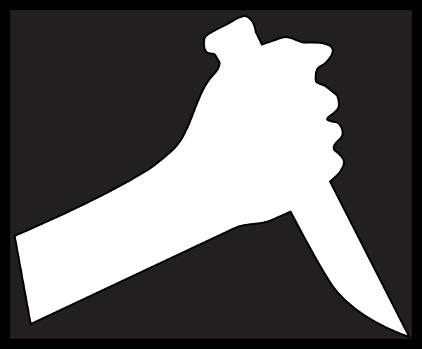 Khife clipart black and white Vector this Hand image Knife
