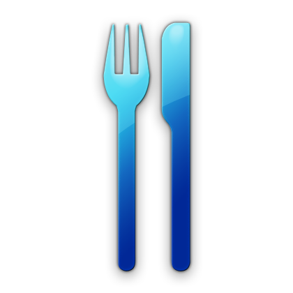 Knife clipart blue Art etc icon spoon clipart