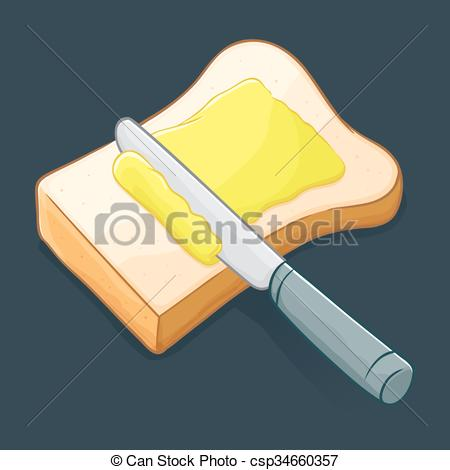 Khife clipart bread and butter Butter Clipart Vector  Knife