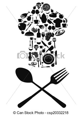 Khife clipart chef Symbol clipart spoon with knife