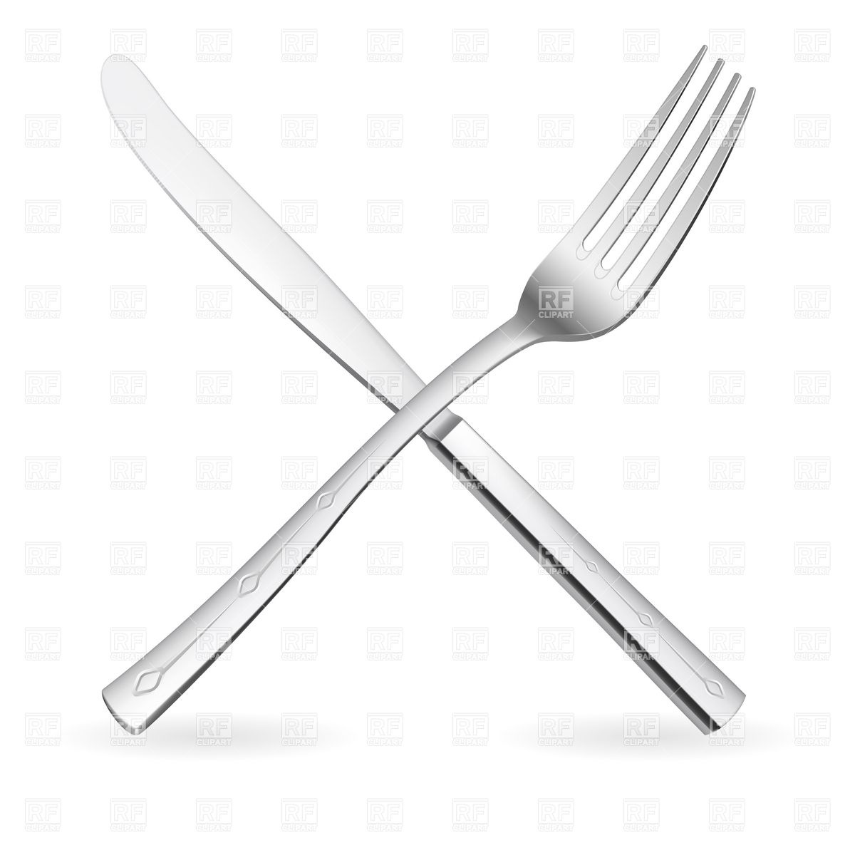 Knife clipart crossed Crossed Fork Clip clipart and