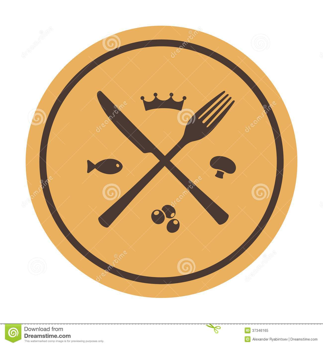 Knife clipart crossed Crossed Crossed Plate clipart and