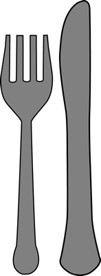 Khife clipart cute Knife and and gray Fork