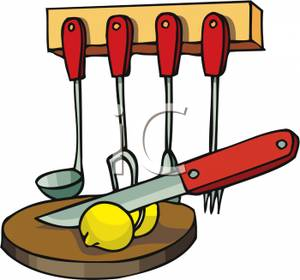Knife clipart cute Clipart Download Chopping Knife Board