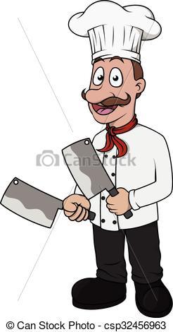 Knife clipart cute Cartoon with knife csp32456963 knife
