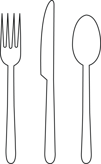 Black & White clipart fork Icons Free image #3684 and