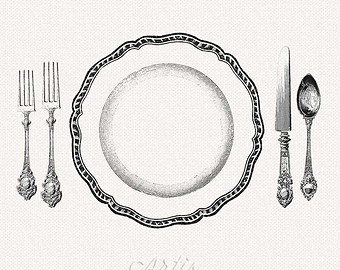 Setting clipart dinner ClipArt Plate Spoon Cutlery Download