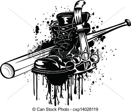 Dagger clipart violence Clip knuckleduster and of Vector