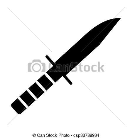 Drawn dagger military knife Simple knife and devices icon