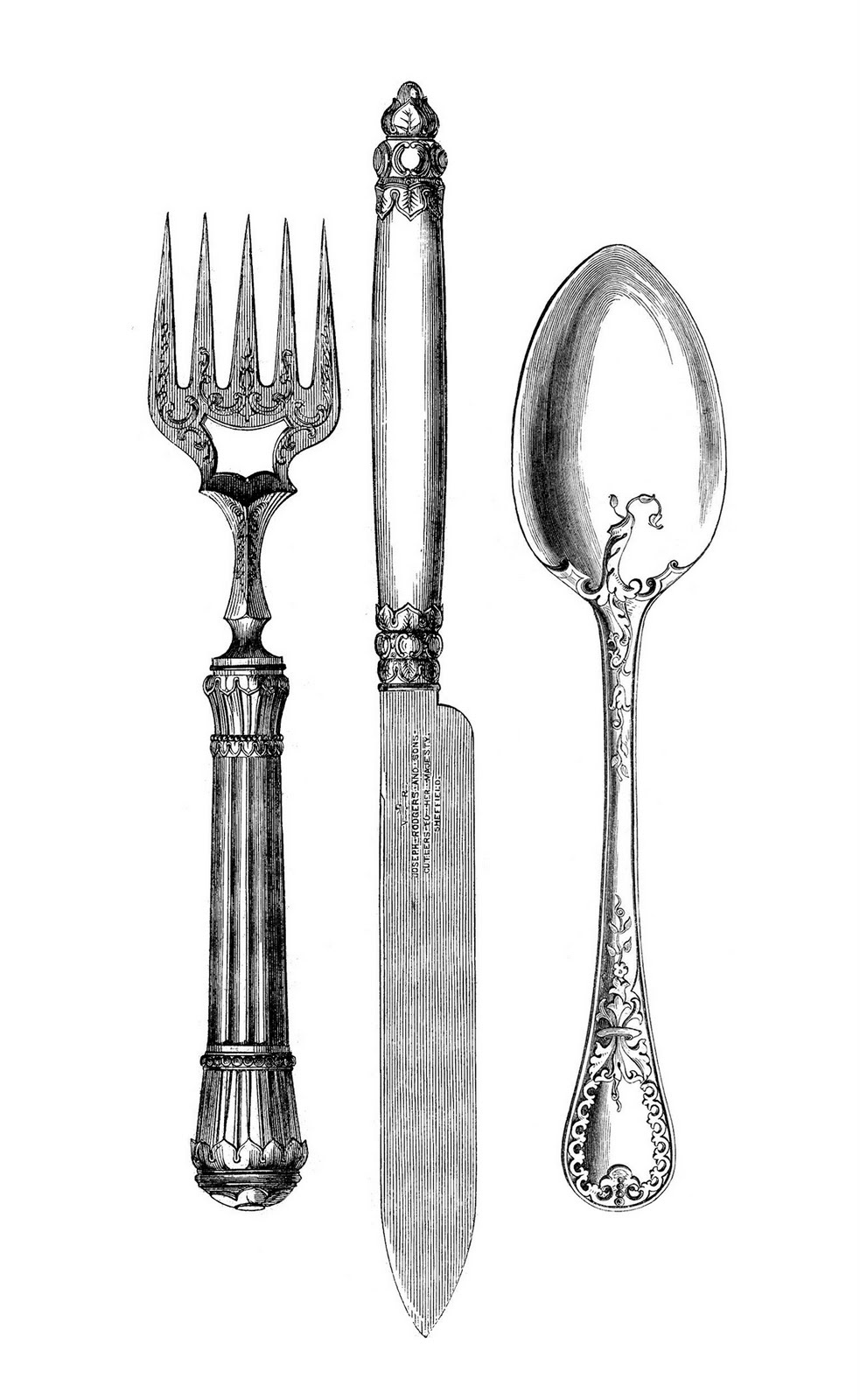 Cutlery clipart silverware Fork Fork Graphics Knife Spoon